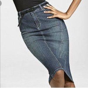Shape  Fix Denim  pencil skirt